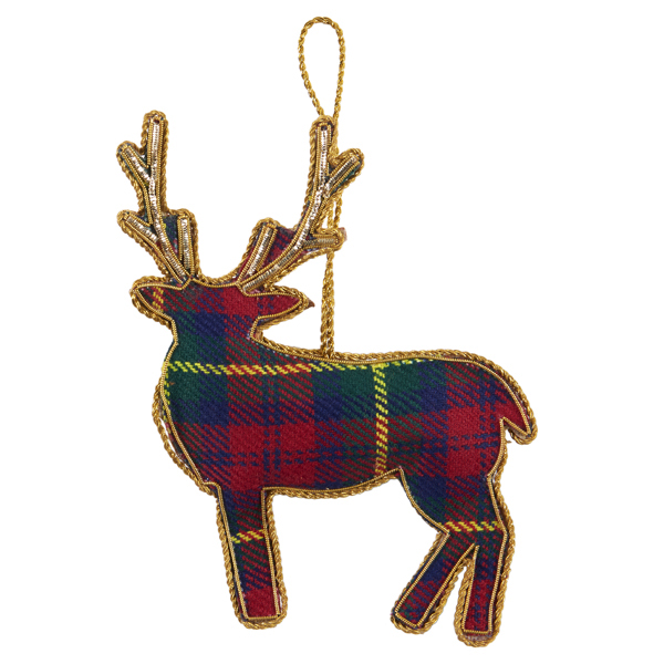 Stag fabric beaded decoration