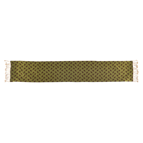 Stag pattern men's silk scarf