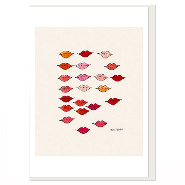 Stamped Lips by Andy Warhol greeting card