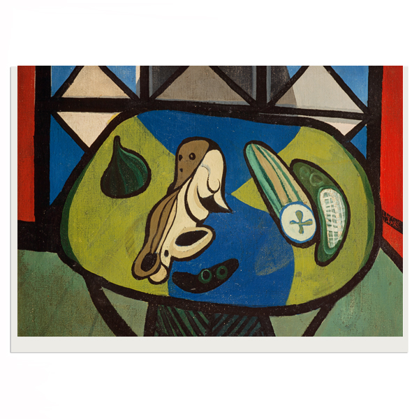Still Life with Cucumber by Robert MacBryde greeting card