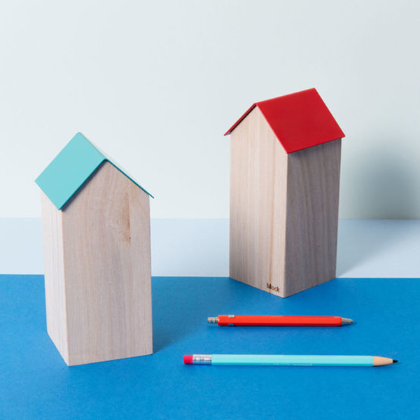 Storage house (red roof) desk accessory