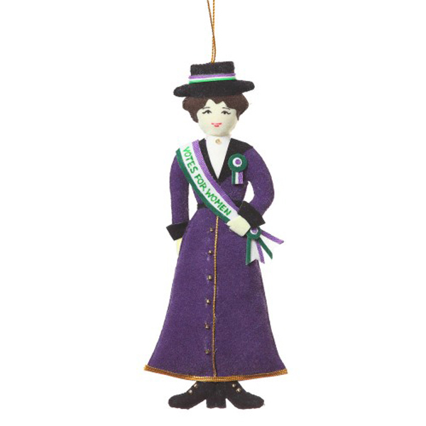 Suffragette fabric beaded decoration