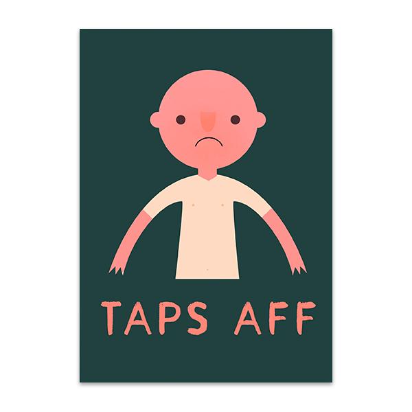 Taps aff greeting card