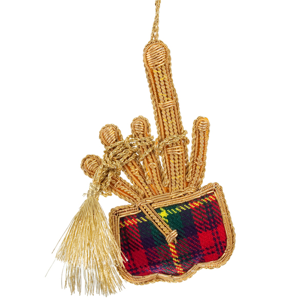 Tartan bagpipes fabric decoration