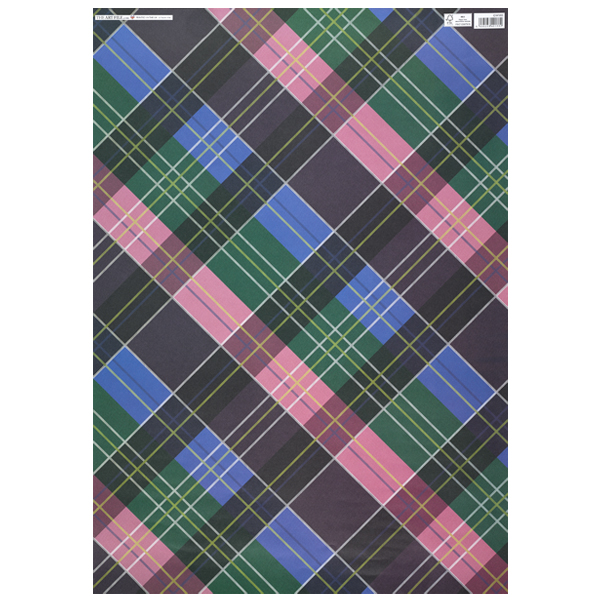Tartan gift wrap (single sheet)