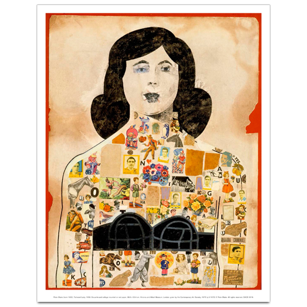 Tattooed Lady, 1958 by Peter Blake art print