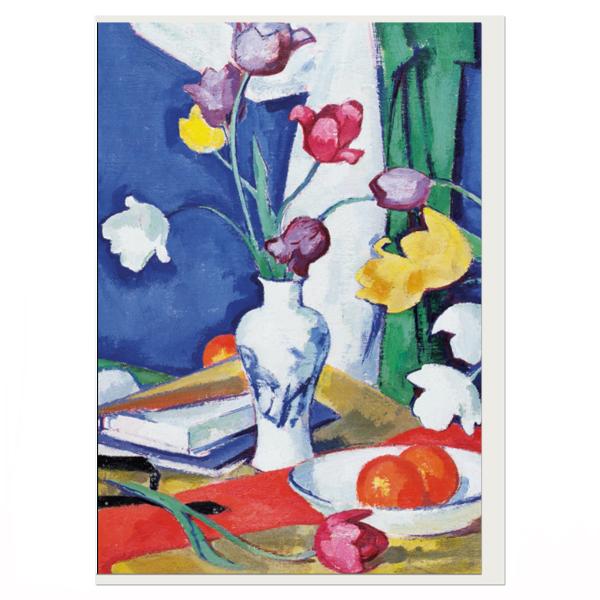 Tulips And Fruit Samuel John Peploe Greeting Card