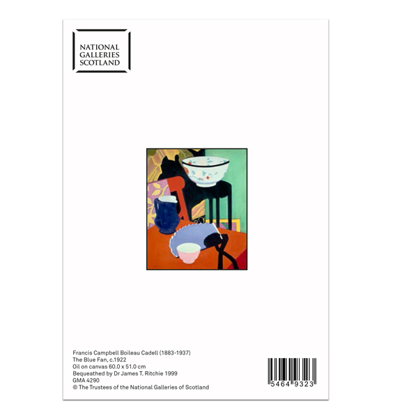 The Blue Fan by Francis Campbell Boileau Cadell greeting card