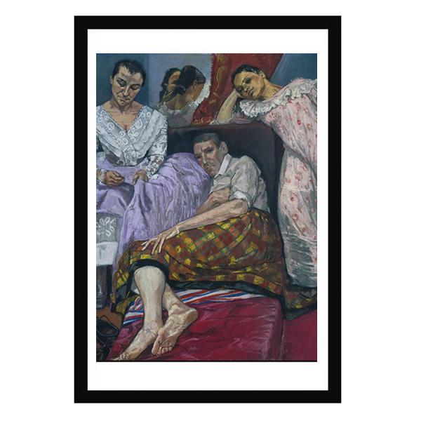The Company of Women by Paula Rego (80 x 60 cm) black framed print