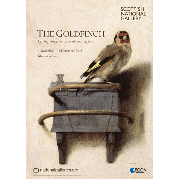 The Goldfinch by Carel Fabritius exhibition poster