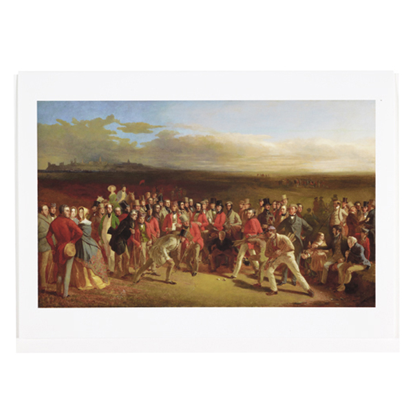 The Golfers by Charles Lees greeting card