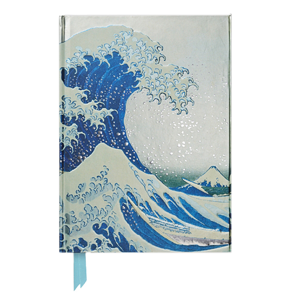 The Great Wave by Katsushika Hokusai A5 foil cover notebook