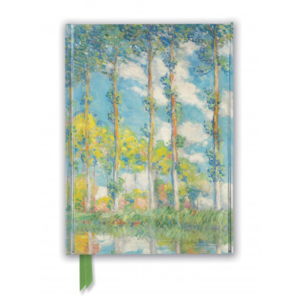 The Poplars by Claude Monet A5 foil cover notebook