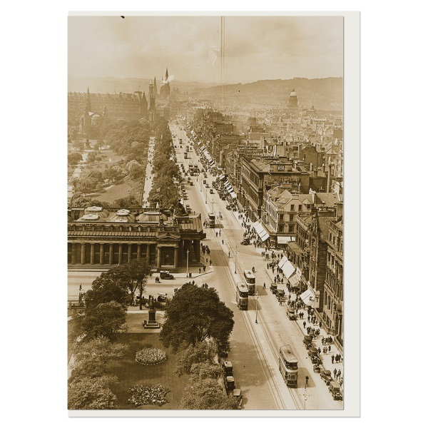 Princes Street from the Scott Memorial greeting card