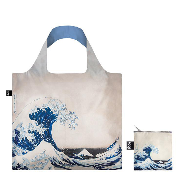 The Great Wave by Katsushika Hokusai reusable water-resistant carrier bag