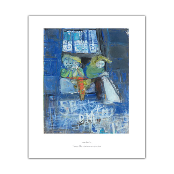 Three children at a tenement window by Joan Eardley poster print