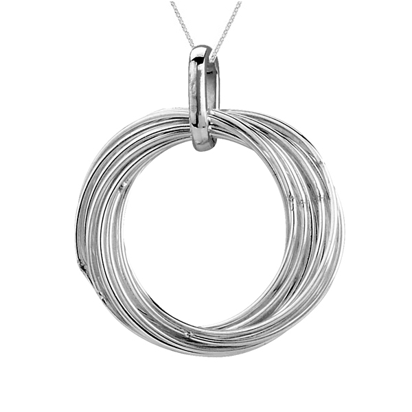 Open rings silver pendant