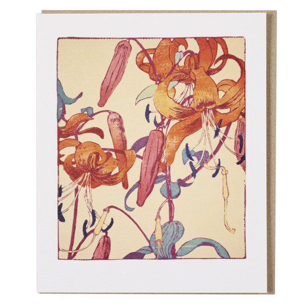 Tiger Lilies by Mabel Royds greeting card
