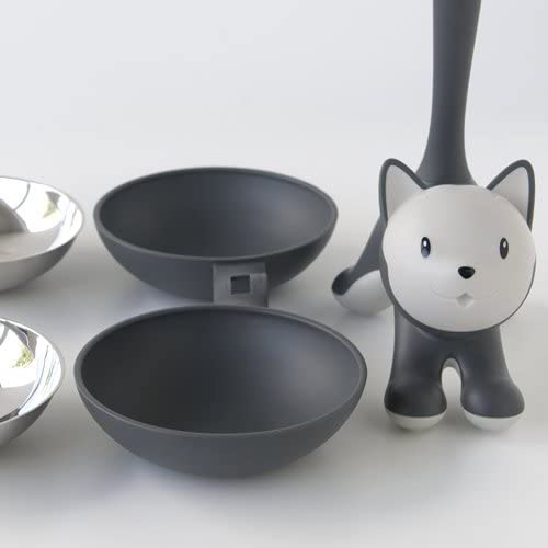 Tigrito by Alessi cat double grey bowl