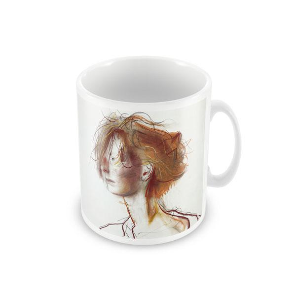 Tilda Swinton by John Byrne ceramic mug