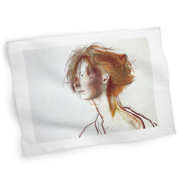 Tilda Swinton by John Byrne cotton tea towel
