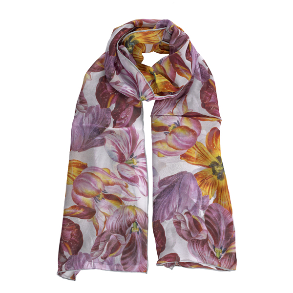 Dutch Tulips Silk Scarf
