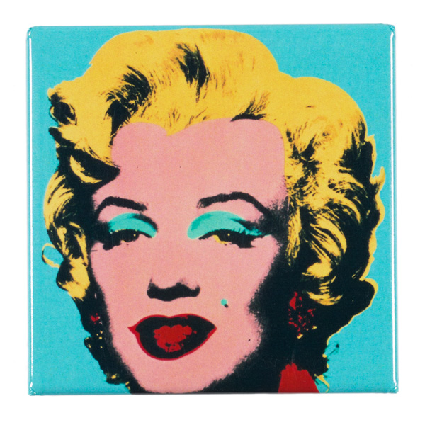 Turquoise Marilyn by Andy Warhol magnet