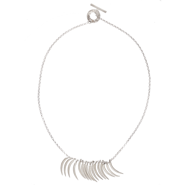 Tusk silver necklace