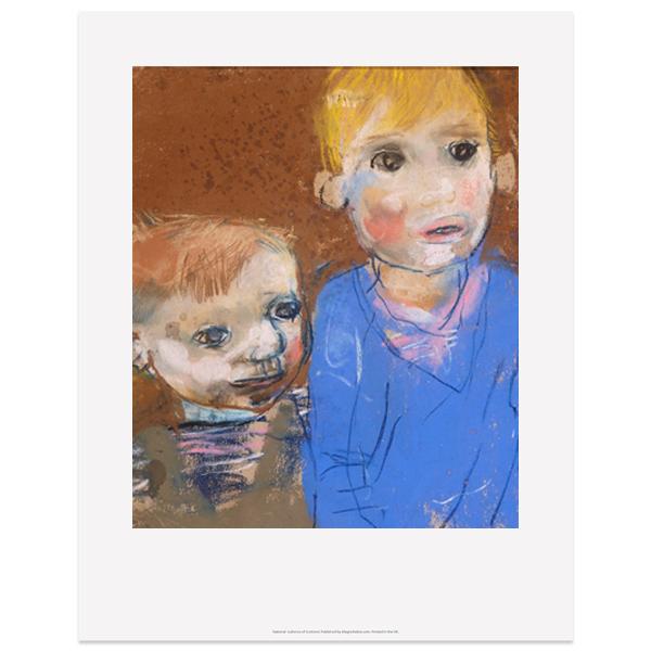 Two Boys (Glasgow Children) by Joan Eardley art print