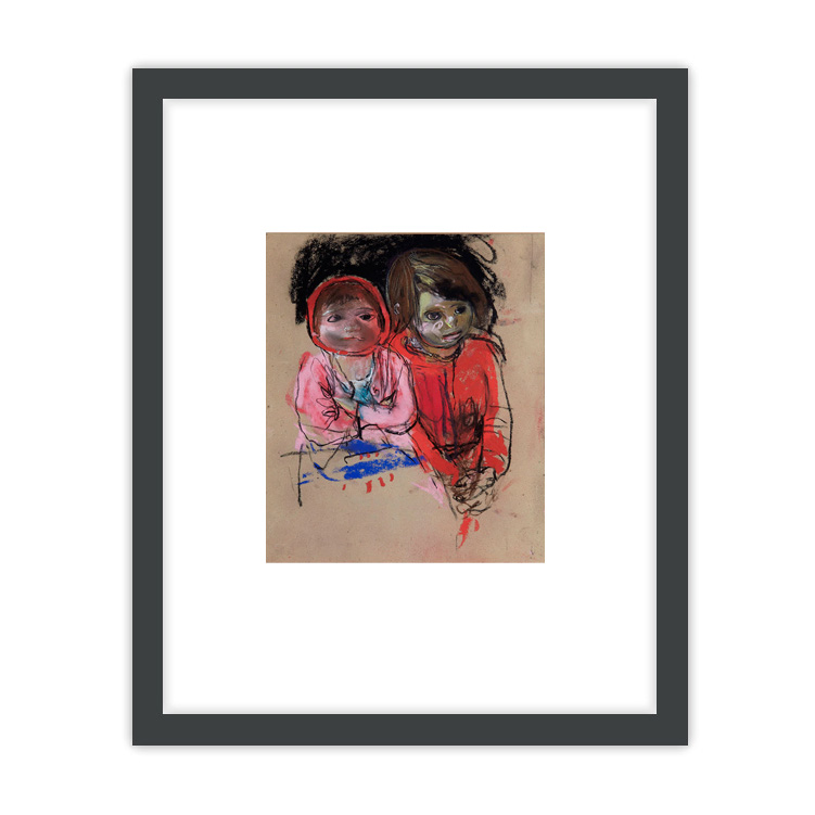 Two Glasgow Lassies by Joan Eardley ready to hang framed print