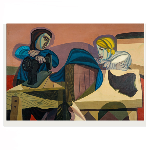Two Women Sewing Robert MacBryde Greeting Card