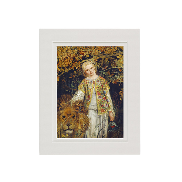 Una and the Lion by William Bell Scott A5 mounted art print