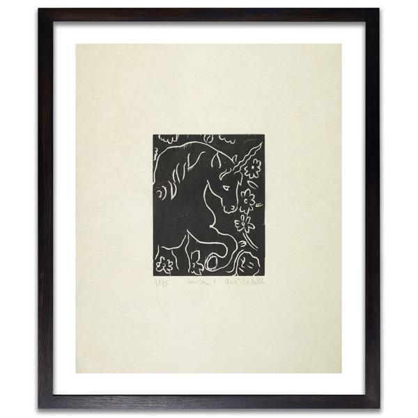 Unicorn I by Adrian Wiszniewski limited edition woodcut print