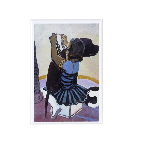 Untitled (from Girl and dog series) by Paula Rego magnet