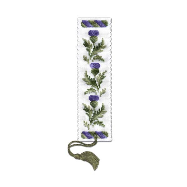 Victorian thistles bookmark cross-stitch kit