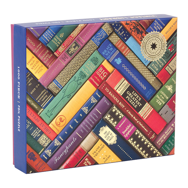 Vintage library book spine jigsaw puzzle (1000 pieces)