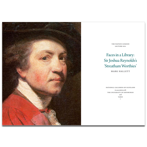 Watson Gordon Lecture Series 2011; Faces in a Library: Sir Joshua Reynolds's 'Streatham Worthies'