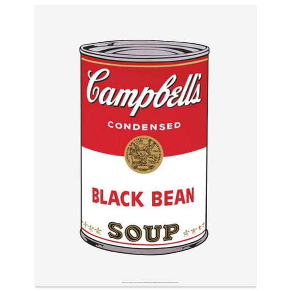 Campbell's Soup Black Bean Andy Warhol Art Print