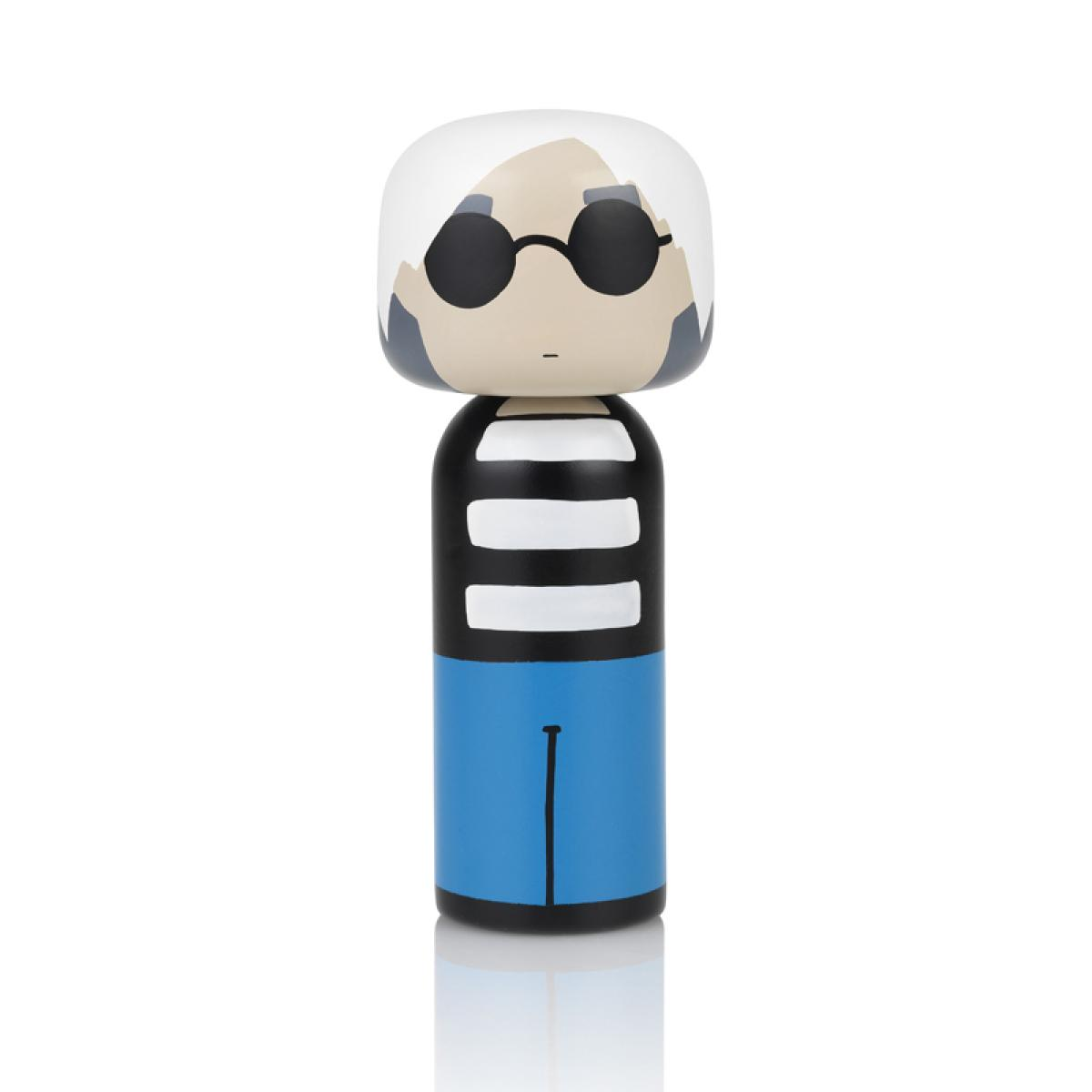 Andy Warhol by Lucie Kaas wooden kokeshi doll