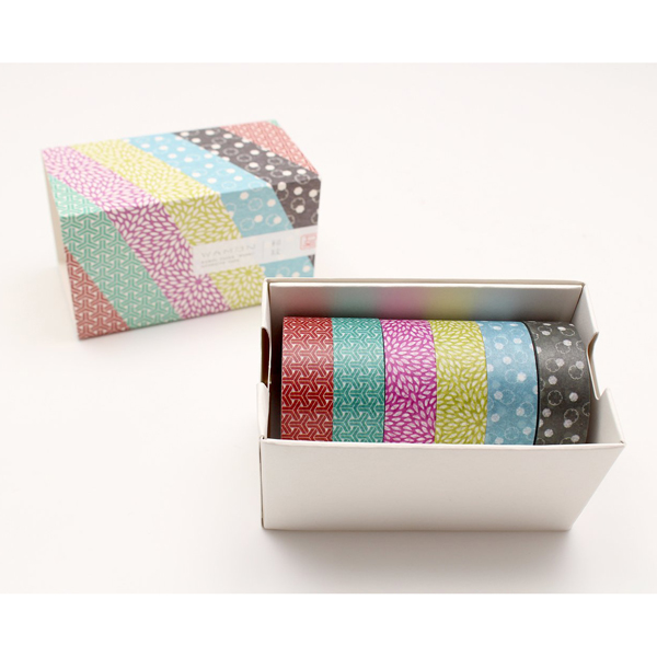 Washi masking tape gift box (6 rolls)