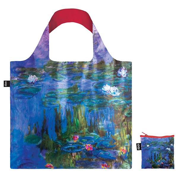 Water Lilies by Claude Monet reusable water-resistant carrier bag
