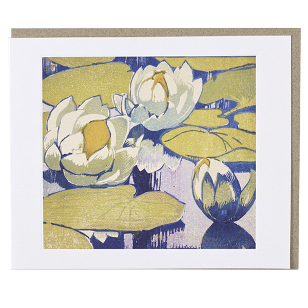 Water Lilies Mabel Royds Greeting Card