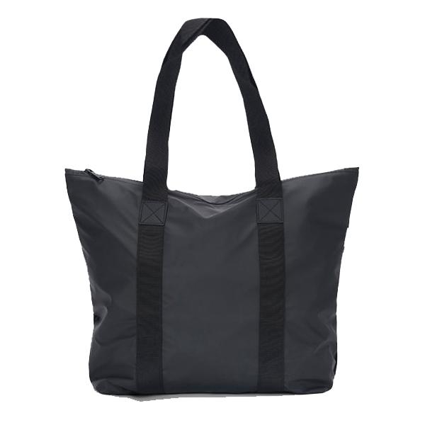 Waterproof black tote bag