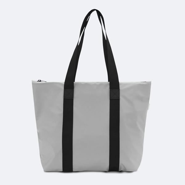 Waterproof stone grey tote bag