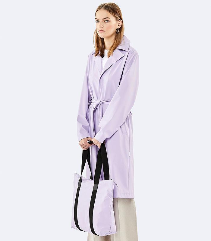 Waterproof lavender tote bag