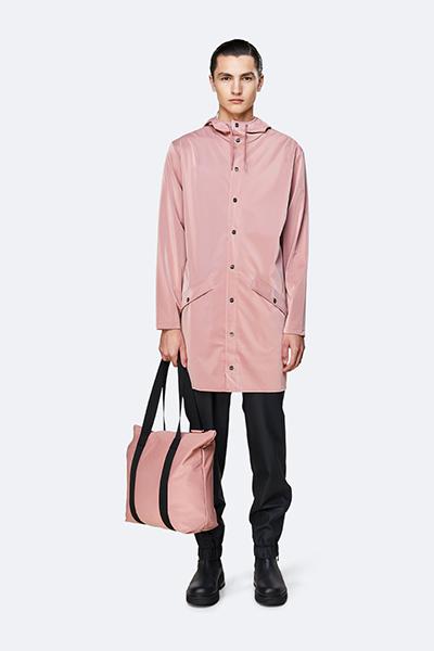 Waterproof light pink tote bag
