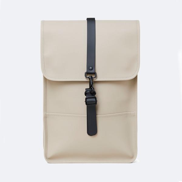 Waterproof medium size beige backpack