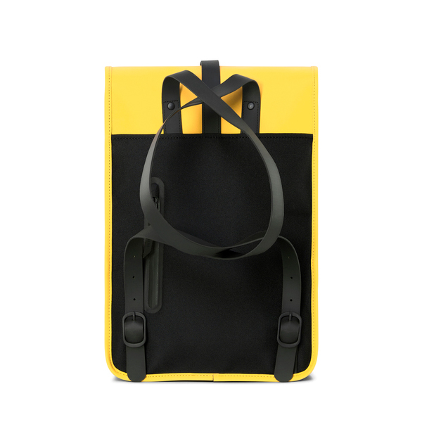 Waterproof medium size yellow backpack