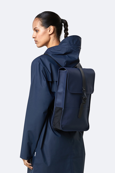 Waterproof medium size blue backpack