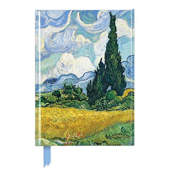 Wheat Field With Cypresses Vincent Van Gogh A5 Journal